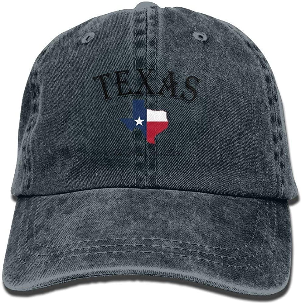 Casquettes de Baseball//Hat Trucker Cap Caps Hats Unisex Adult Texas Lone Star State Washed Denim Cotton Sport Outdoor Baseball Hat One Size Adjustable Unique Personality Cap