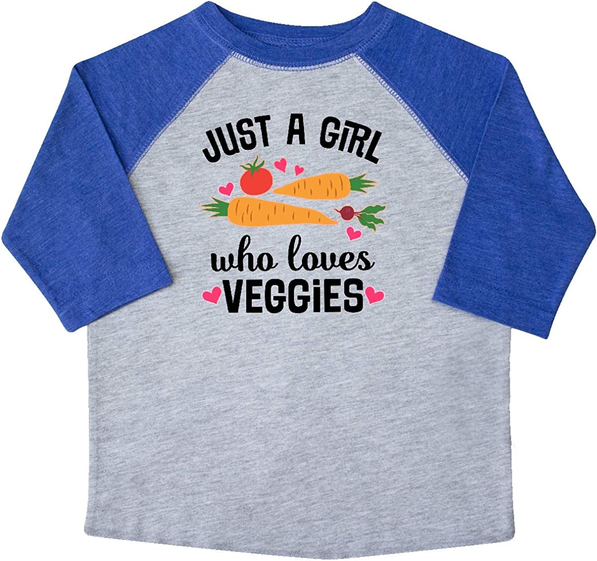 inktastic Just a Girl Who Loves Veggies Toddler T-Shirt