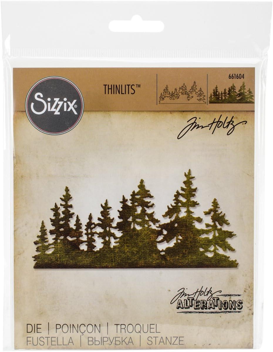 Tim Holtz Holiday Village Colorize Sizzix Set de Troqueles Thinlits 6 pzas 664737 Aldea navide/ña Talla /única