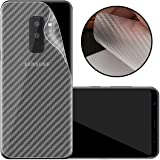Case Creation Ultra Thin Slim Fit 3M Clear Transparent 3D Carbon Fiber Back Skin Rear Screen Guard Protector Sticker Protective Film Wrap Not Glass for Samsung Galaxy S9 Plus (Carbonn)