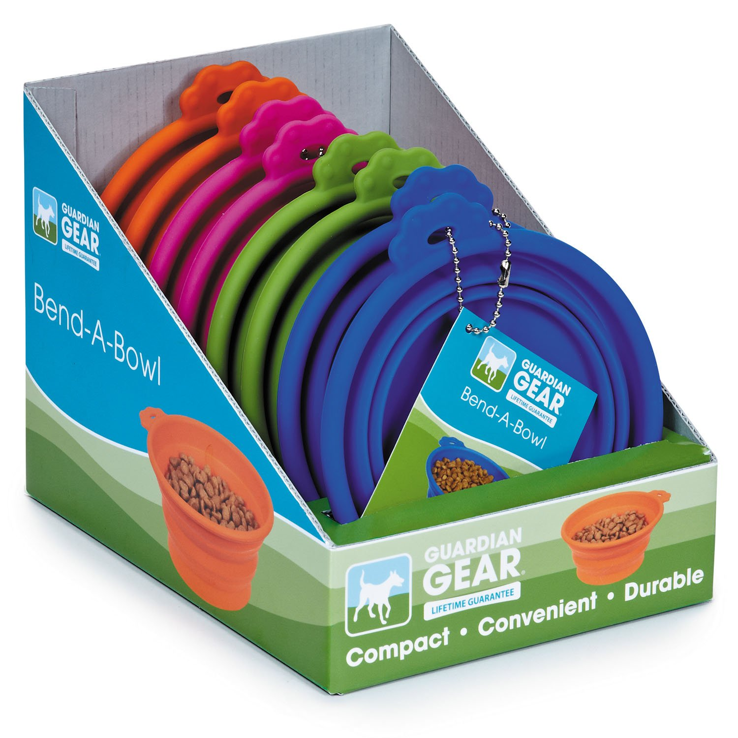 Guardian Gear Bend-a-Bowl Display of Dog Bowls (8 Pack), Medium by Guardian Gear