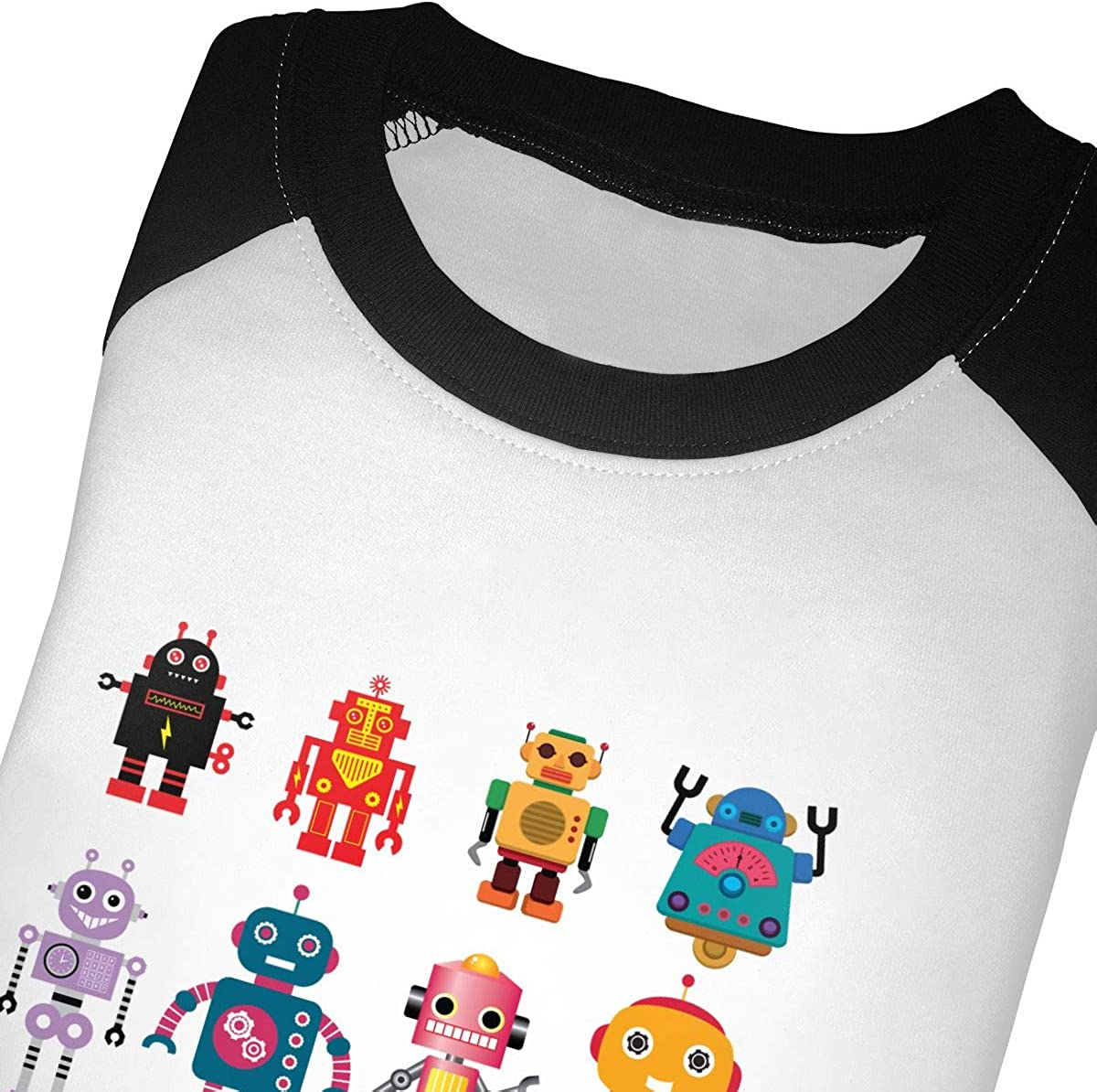 HIGASQ Unisex Baby Colorful Cute Robot Toddlers O Neck Raglan 3//4 Sleeve Baseball T Shirt for 2-6 Boys Girls