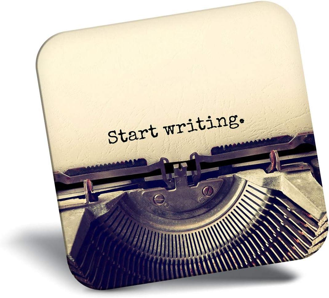 Destination Vinyl ltd Awesome Fridge Magnet - Start Writing Typewriter Writer 14180