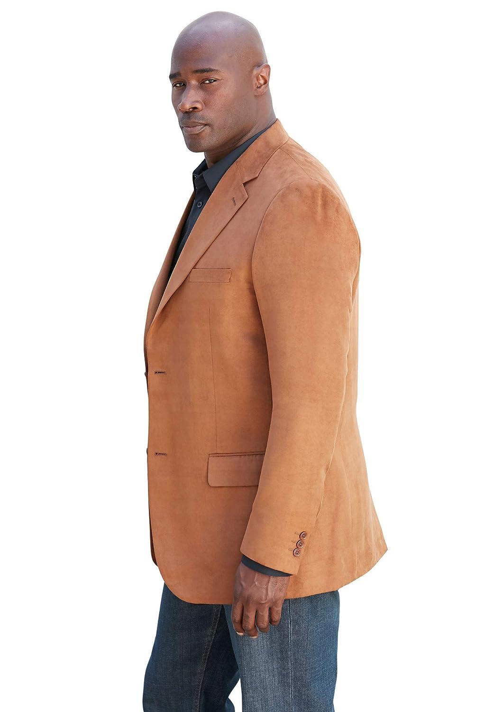 Kingsize Signature Collection Mens Big /& Tall Kingsize Signature Collection Microsuede Sport Coat