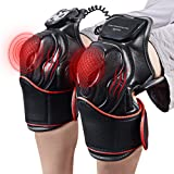 Electric Knee Massager Knee Pads - Vibration Heat Therapy for Pain Relief Physiotherapy Recovery Knee Joints Massager- 1 Pair