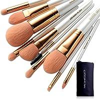 Makeup Brush Set 10Pcs Vegan Makeup Brush Set Premium Nanometer Fiber Foundation Brush Travel Brush Concealer Cosmetic…