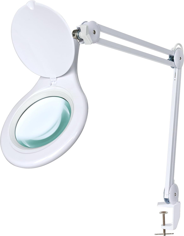 Bresser 7398720 - Lupa de Mesa (LED, Zoom 2X, 125 mm), Color ...