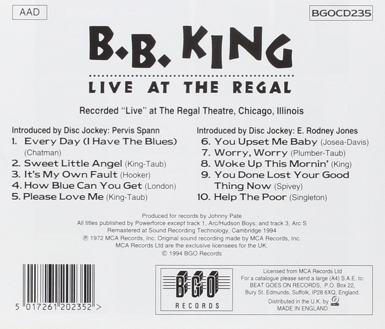 Live At The Regal /  B.B. King