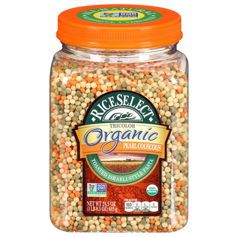 RiceSelect RiceSelect Organic Tri-Color Pearl Couscous, 24.5 Ounce