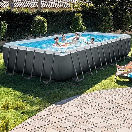 Intex 26364NP - Piscina elevada rectangular Ultra XTR Frame 732 x 366 x 132 cm con depuradora: Amazon.es: Jardín