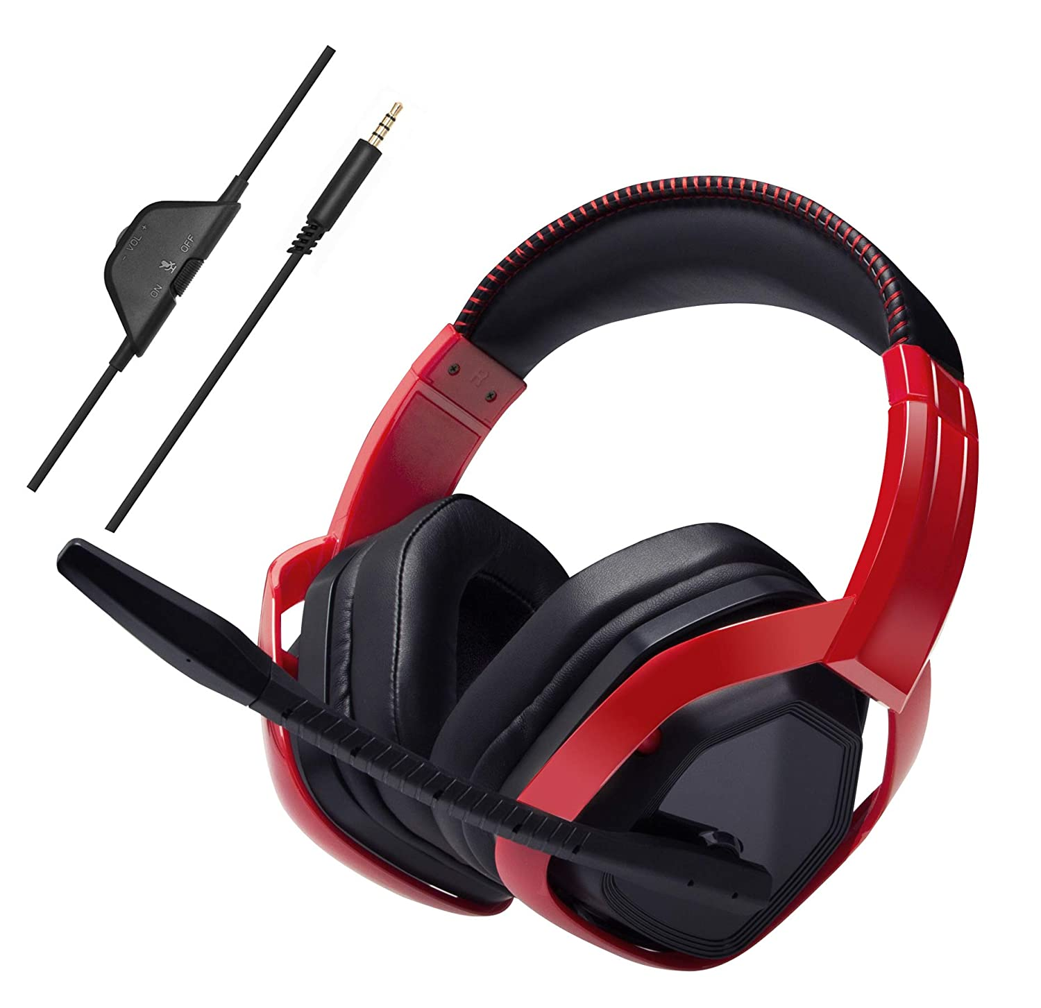 AmazonBasics Pro Gaming Headset - Red