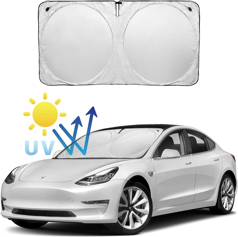 Erasior Automotive Sun Protection Sunshades for Tesla Model 3 Overhead Roof Sunshade Rear Window Sunshade UV//Heat Insulation Film Sunroof UV Rays Protection Window Shade