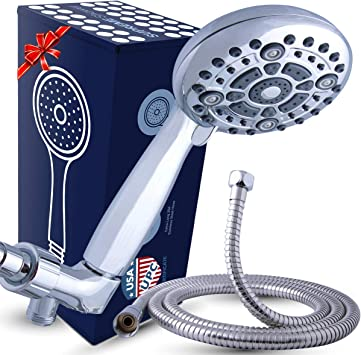 Shower Head with Removable Hand Held Wand Multi Spray LP