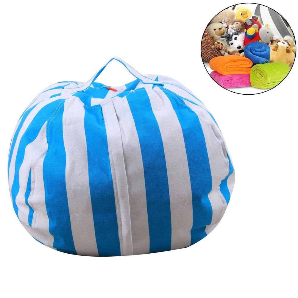 Stuffed Animal Storage Bean Bag Chair for Kids - Plush Toy Storage (ZWLY38, 26'')