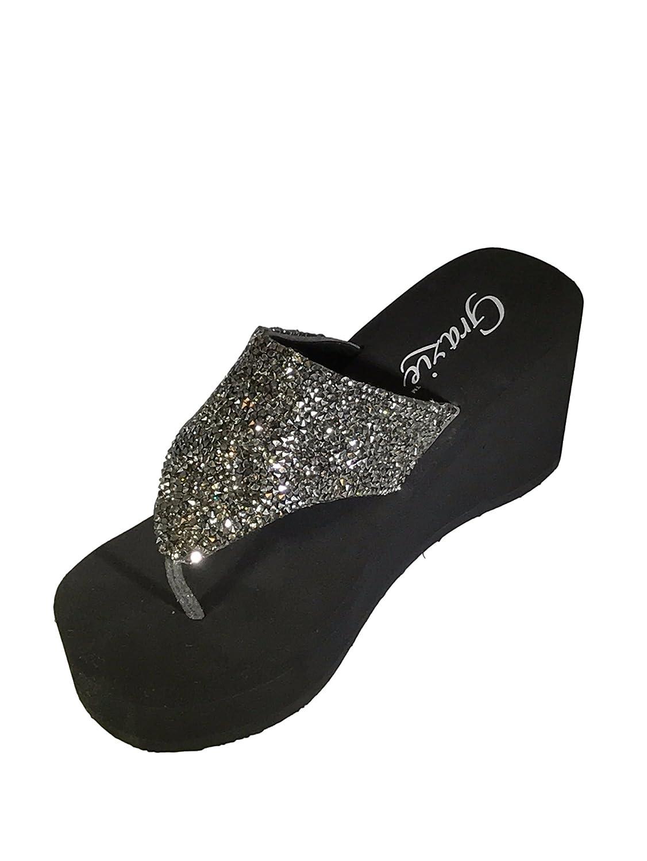 Grazie Women's Beckoning Platform Sandal B06Y3TXMDC 7.5 B(M) US|Pewter