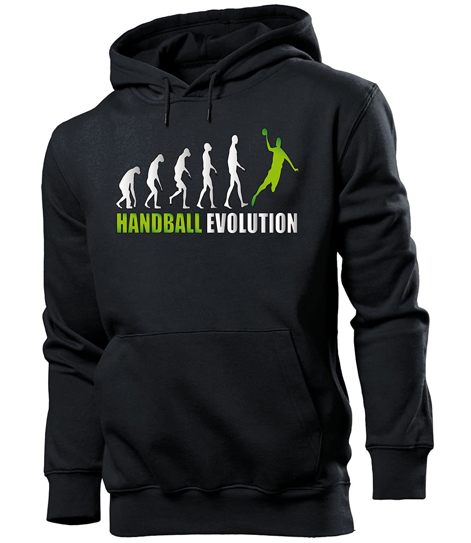 love-all-my-shirts Handball Evolution Fanhoodie M/änner Herren Hoodie Pulli Kapuzen Pullover Kapuzenpullover Sportbekleidung Sport