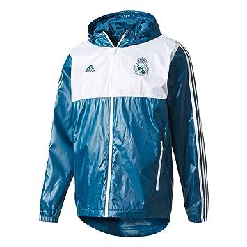 adidas Real 3S Wndbrk Chaqueta, Hombre, (petnoc/Blanco), XL: Amazon.es: Deportes y aire libre