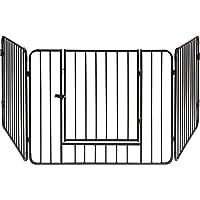 ib style®BLAKE   Kaminschutzgitter   Absperrgitter   3 Elemente   Tür mit Sicherheitsverschluss