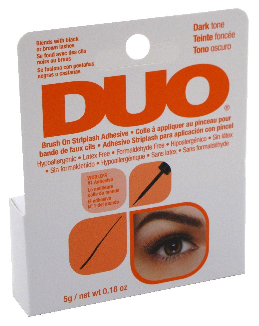 DUO Brush-On StripLash Adhesive, Dark Tone, With Vitamins A, C & E (Hypoallergenic, Latex & Formaldehyde Free), 0.18 oz/5 g Ardell 56896