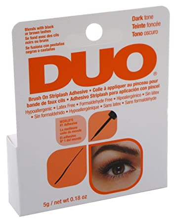 264a79823e6 Amazon.com : Duo Brush-On Striplash Adhesive Dark Tone 0.18 Ounce (5.3ml)  (3 Pack) : Beauty