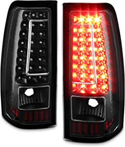 For 03-06 Chevy Silverado 04-06 GMC Sierra Pickup Truck Black G2 LED Tail Lights Brake Lamps Replacement
