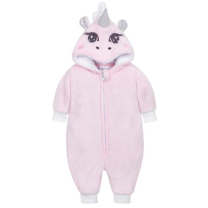 Metzuyan Baby Girls Unicorn All in One with Novelty Hood