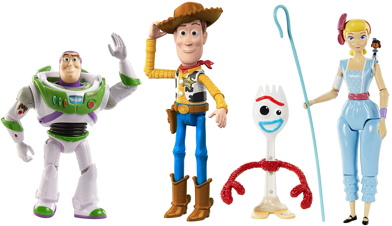 Mattel Disney Toy Story 4 Pack de 4 Figuras Básicas de La Película, Juguetes Niños +3 Años (GDP75): Amazon.es: Juguetes y juegos