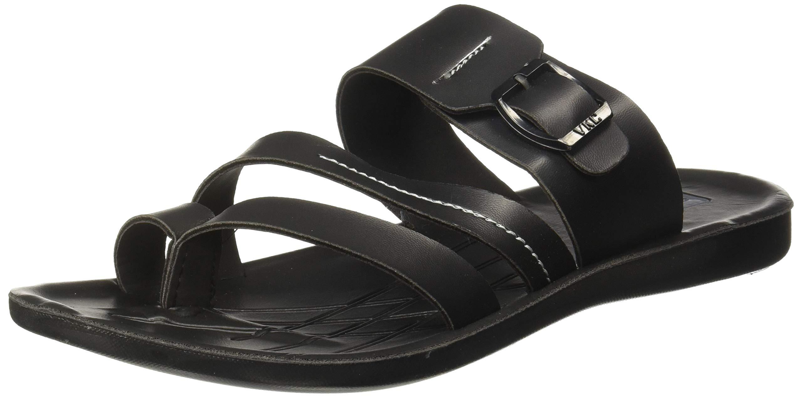 VKC Pride Men's Black Outdoor Sandals-6