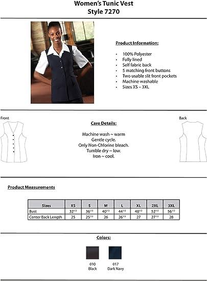 Women/'s Tunic Vest 7270
