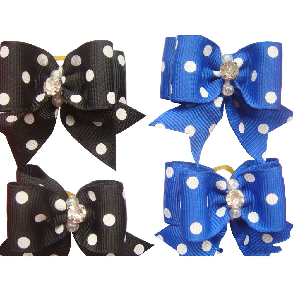 20 Pcs Pet Grooming Hair Bow Ribbon Gift Headdress Flower Hair Accessories for Dog Cat Puppy by Gozier (Image #9)