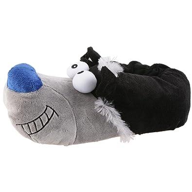 Hund Puschel Tier Hausschuhe Blau Pantoffel Schlappen Plüsch Herren Blau Hausschuhe 41-46 be070d
