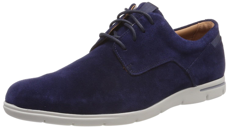 Clarks Vennor Walk, Zapatos de Cordones Derby para Hombre 42.5 EU|Azul (Navy Suede)