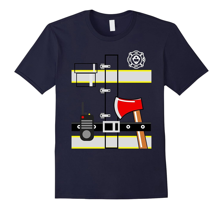 Funny Firefighter Halloween Costume T-Shirt Gift-T-Shirt