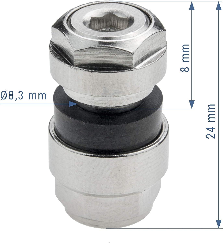 Repuesto de Adaptador para v/álvulas invisibles ocultos optivent 11,3/mm y 8,3/mm plata