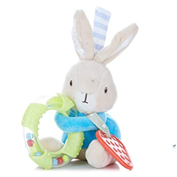Brand New Lot Of 2 Peter Rabbit Beatrix Potter Baby Toys Hand Rattle Jiggle Toy!