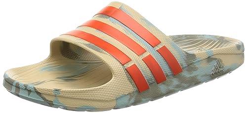 Adidas Duramo Slide, Chanclas Unisex Adulto, Azul (Caqlin/Energi/Cartra Caqlin/Energi/Cartra), 53 EU