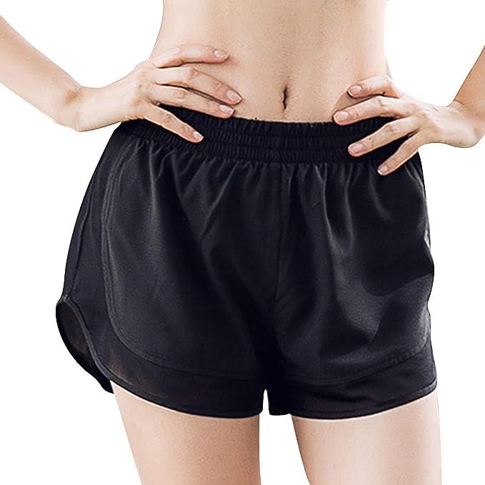 Amazon.com: MTSCE - Pantalones cortos de yoga para mujer ...