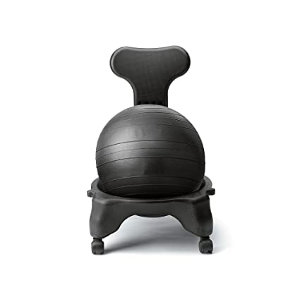 1UP Fit Chair Balance Ball Chair Home U0026 Office   Pump And Exercise Guide