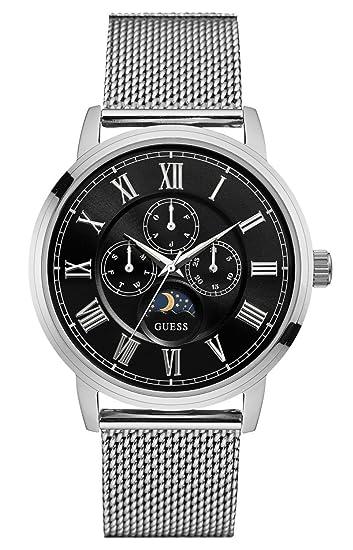 Guess Reloj Multiesfera para Hombre de Cuarzo con Correa en Acero Inoxidable W0871G1: Guess: Amazon.es: Relojes