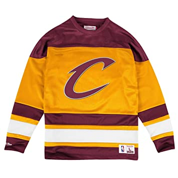 Cleveland Cavaliers Mitchell & Ness NBA mesh Jersey camiseta de manga larga camiseta Talla:small