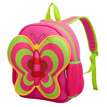 Amazon.com | BINGONE Kids Backpack, Nohoo Preschool Cute 3D Cartoon Zoo Animal Toys Backpack for Boys Girls Toddlers, Red-Butterfly | Kids Backpacks