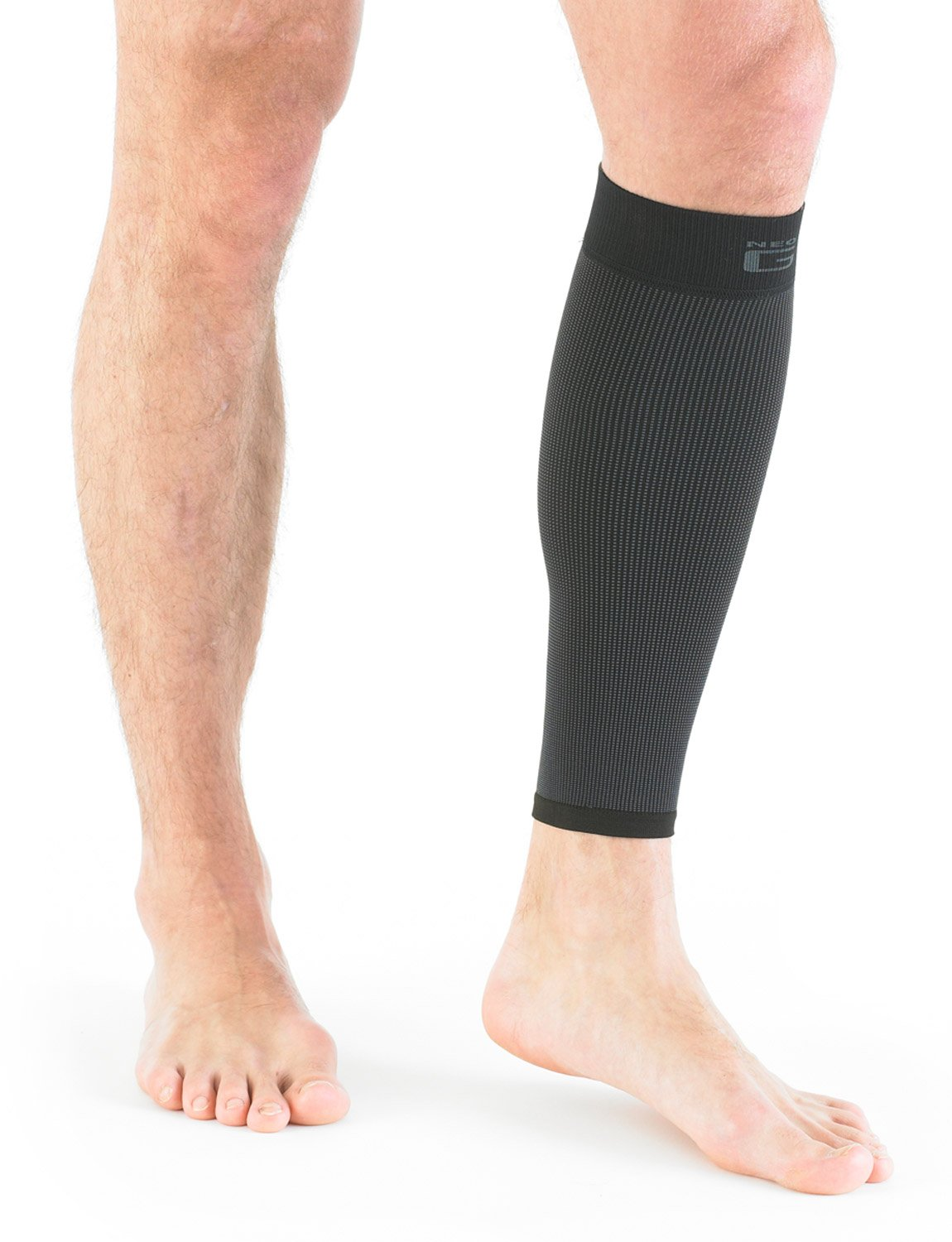 NEO G Airflow Calf/Shin Support - SMALL - Black - Medical Grade Quality sleeve, Multi Zone Compression, lightweight, breathable, HELPS strains, sprains, injured, weak calves/shins - Unisex Brace