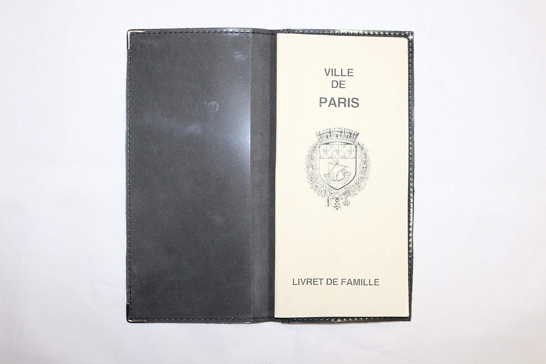 Porte Livret De Famille Cuir De Chevre Veritable Fabrique En France Homme Femme Noir