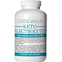 Keto Electrolyte Capsules - 180 Count - Energy Supplement for a Low Carb Diet Or Keto Diet, Rehydration & Recovery, Eliminates Fatigue and Promotes Weight Loss!Sodium, Calcium, Potassium & Magnesium
