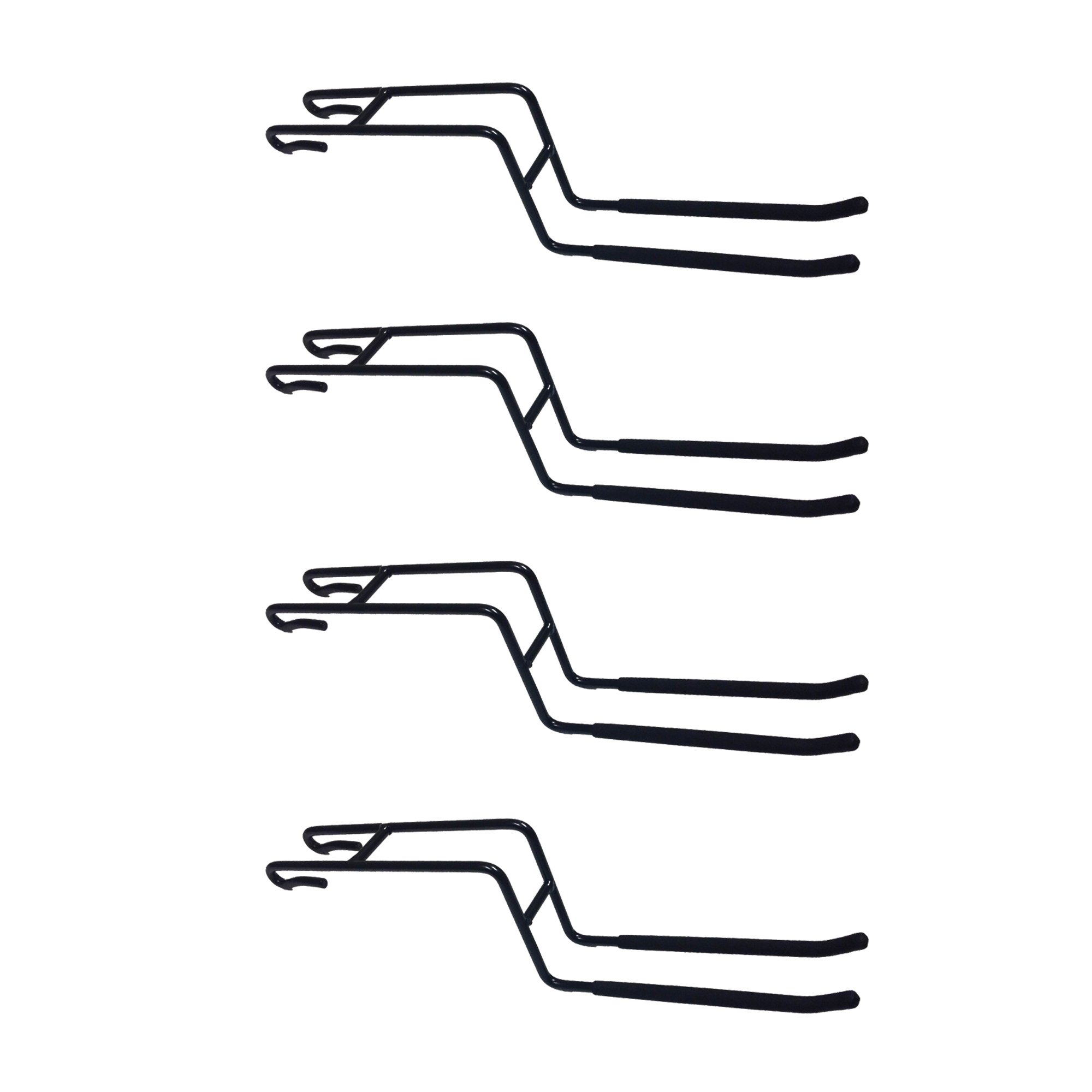 Proslat 63024 ProRack Double Side Hook Accessory Pack (4 Pack), Black, 6''