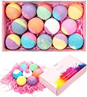 Anjou 14 Packs Bath Bombs Gift Set, Lush Fizzies, Perfect for Bubble Bath, Spa, Moisturizing With Scented Natural...