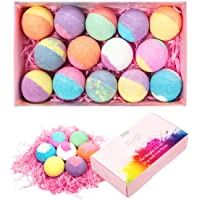Anjou 14 Packs Bath Bombs Gift Set, Lush Fizzies, Perfect for Bubble Bath, Spa, Moisturizing With Scented Natural Essential Oils, Jojoba Oil, Shea Butter, Best Christmas Gifts Ideas for Kids, Moms, Girlfriends, Friends, Family Members