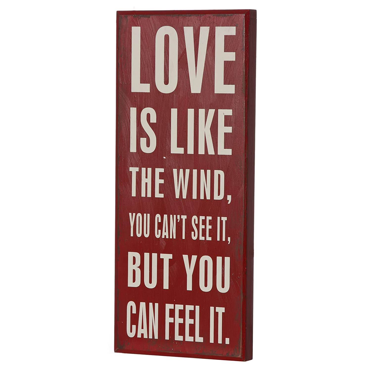 Plaque Love Sign Love Is Like The Wind You Can/'t See It But You Can Feel It