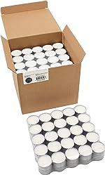Stonebriar 6-7 Hour Long Burning Unscented Tea Light Candles, 200 Pack,