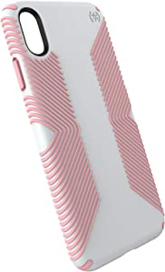 Speck Products Presidio Grip iPhone Xs Max Case, Dove Grey/Tart Pink (117106-6584)